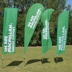 Outdoor teardrop banner flag for advertising